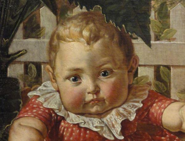Los niños de la familia Hülsenbeck. Philipp Otto Runge. 1805 a 1806. Oleo sobre lienzo. Detalle. Kunsthalle. Hamburgo. Foto R.Puig