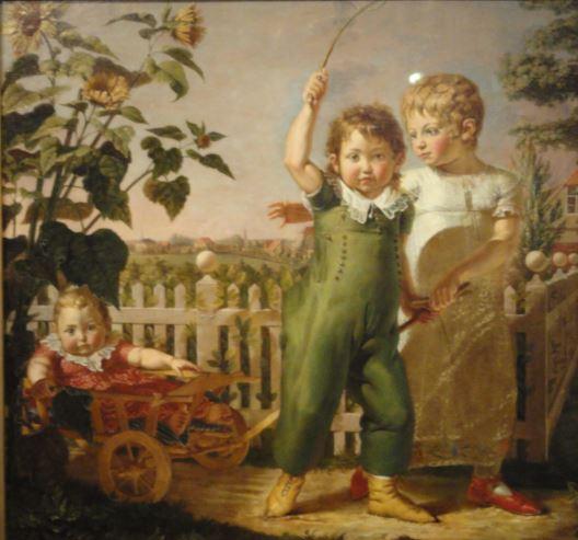 Los niños de la familia Hülsenbeck. Philipp Otto Runge. 1805 a 1806. Oleo sobre lienzo. Kunsthalle. Hamburgo. Foto R.Puig