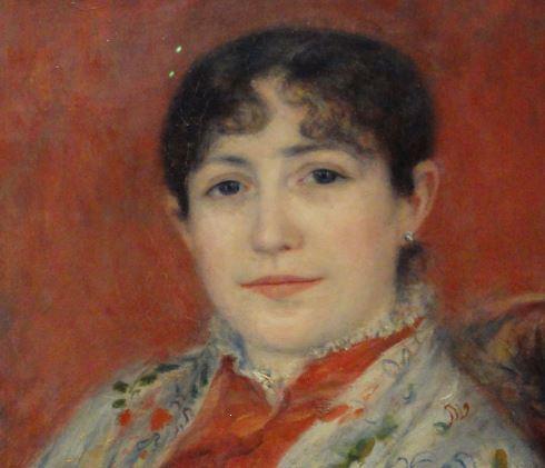 Madame Heriot. por Renoir. 1882. Oleo sobre lienzo. Detalle. Kunsthalle. Hamburgo. Foto R.Puig