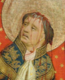 Martirio de Santo Tomas de Canterbury.Detalle. Oleo sobre tabla. Meister Francke. 1426. Foto R.Puig