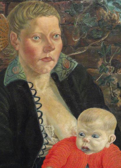 Maternidad. Otto Dix 1924. Detalle. Oleo sobre lienzo. Kunsthalle. Hamburgo. Foto R.Puig