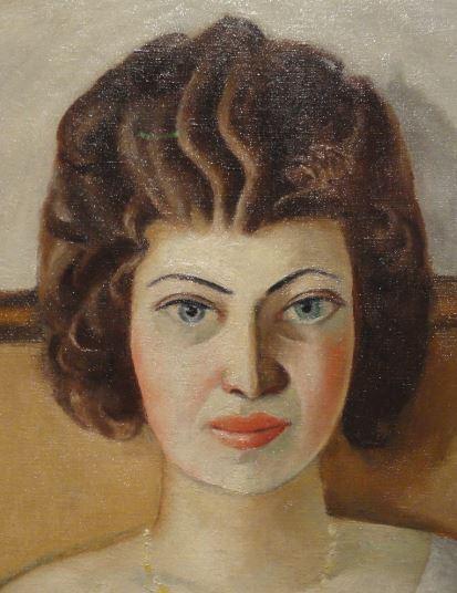 Mujer rumana. Max Beckmann 1922. Detalle. Oleo sobre lienzo. Kunsthalle. Hamburgo. Foto R.Puig