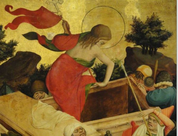 Resurreccion de Cristo. Oleo sobre tabla. Meister Francke. 1424. Foto R.Puig