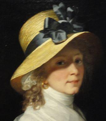 Retrato de Elisabeth Hudtwalcker. Jean Laurent Mosnier. Oleo sobre lienzo.Detalle. hacia 1798. Kunsthalle. Hamburgo. Foto R.Puig