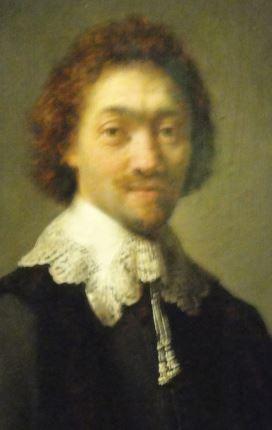 Retrato de Maurits Huygens. Rembrandt. Oleo sobre tabla.Detalle. 1632. Kunsthalle. Hamburgo. Foto R.Puig