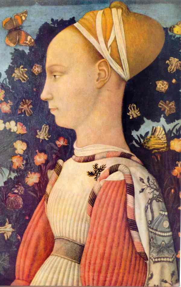 Retrato de mujer de la Casa de Este. Pisanello. Museo del Louvre