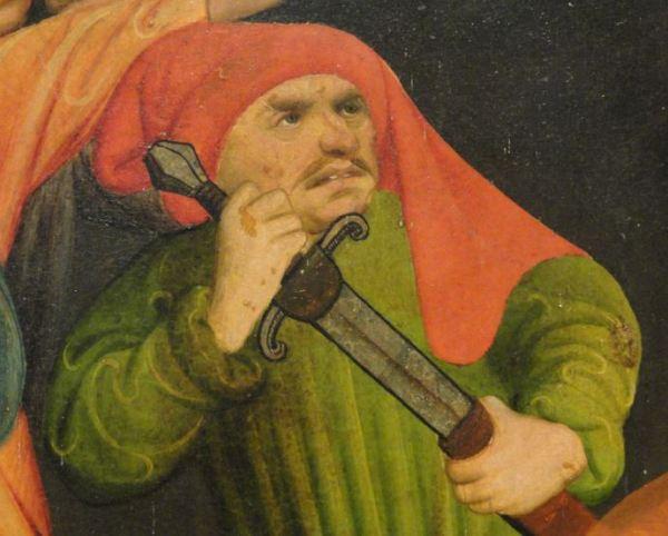 Verdugo del martirio de Santo Tomas de Canterbury. Oleo sobre tabla. Meister Francke. 1426. Foto R.Puig