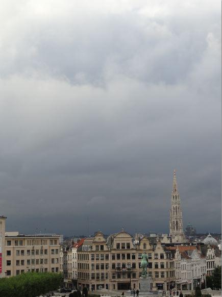 Nubes sobre Bruselas. Foto R.Puig