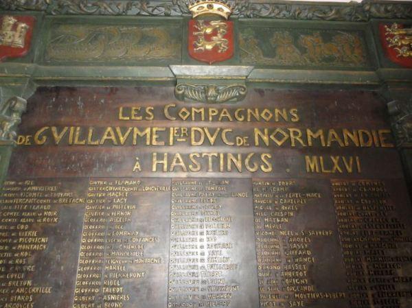 Alcaldía de Falaise. Jefes normandos en la batalla de Hastings en 1066. Detalle. Foto R.Puig
