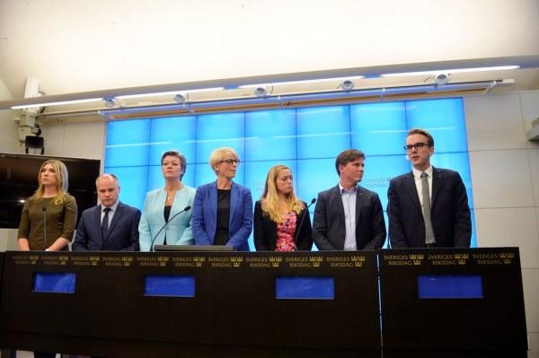 Consenso de seis partidos suecos para la gestion del asilo. Foto Vilhelm Stokstad. Svenska Dagbladet