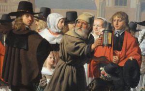 Diogenes buscando a un hombre. 1652. Detalle. Cesar van Everdingen. Galería de Guillermo V. La Haya. Foto R.Puig