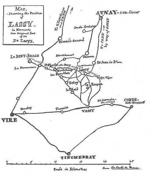 El mapa de Lassy según Edward de Lacy. 1928. Foto R.Puig