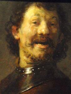 Hombre riendo. Rembrandt 1629 a 1630. Mauritshuis. La Haya. Foto R.Puig