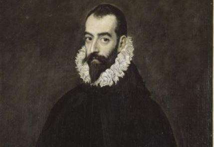El Greco. Retrato de Juan Pimentel. Museo Bonnat. Bayona. Detalle