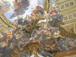 Espatarrados sobre una nube. Iglesia del Gesù. Roma. Foyo R.Puig