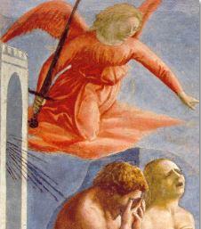 Expulsión del paraiso. Masaccio. Capella Brancacci. Detalle