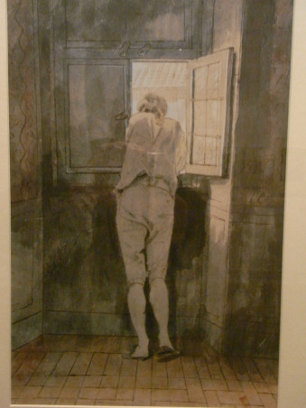 Goethe asomado a la ventana por Tischbein