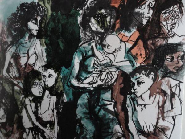 Guttuso. Éxodo. 1961. Detalle. Colección particular