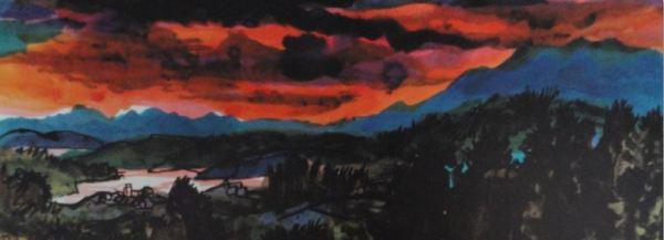 Guttuso. Tramonto. 1962.Detalle. Colección particular