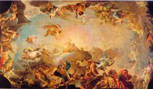 La caida de los gigantes. Francico Bayeu. Museo del Prado