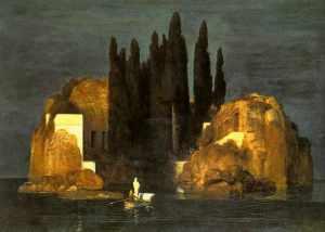 La isla de los muertos. Arnold Böcklin II (1880). Museo de Arte de Basilea