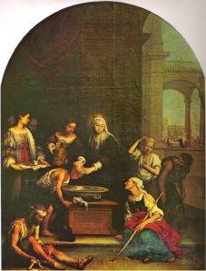 Murillo. Santa Isabel de Hungría curando tiñosos.