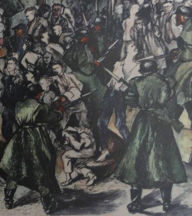 Renato Guttuso. Dios esta con nosotros. Gott MitT Uns. 1944.Detalle. Colección particular