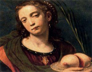 Santa Agueda. Luis Tristán. San Benito. Retablo de la vida de Jesús. Yepes. Toledo