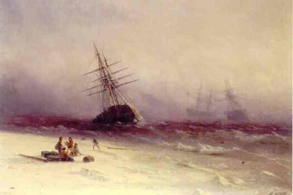 Aïvazovski. Naufragio en el mar del Norte.Museo de los Mekitaristas. Venecia.jpg