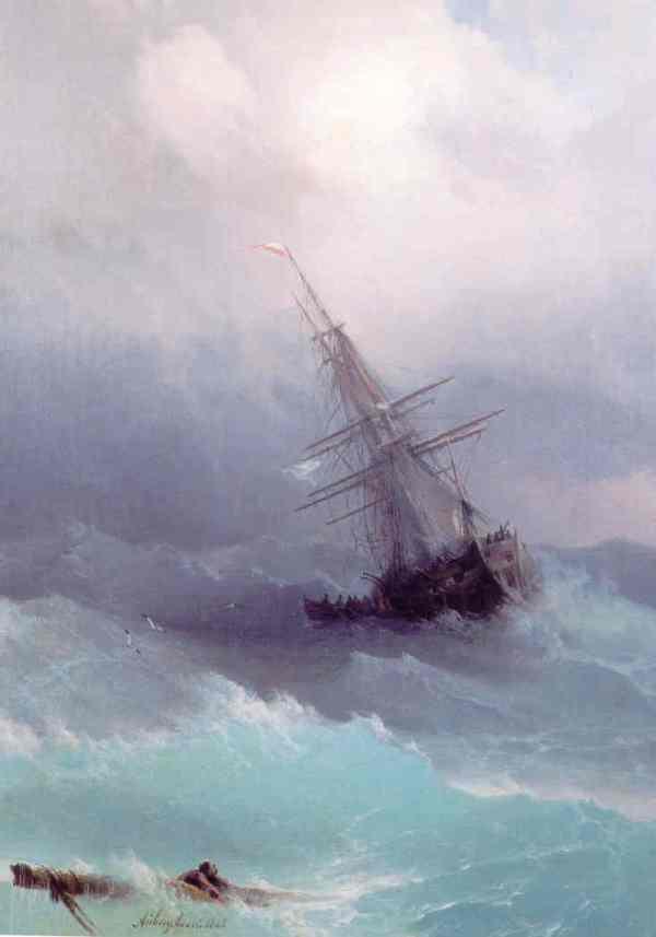 Aïvazovski. Tempestad. Colección particular