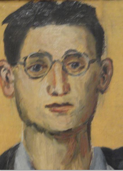 Andrzej Wróblewski. Autorretrato. Detalle. 1949. Foto R.Puig