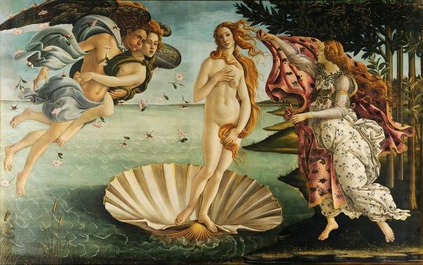 Boticelli. Nacimiento de Venus