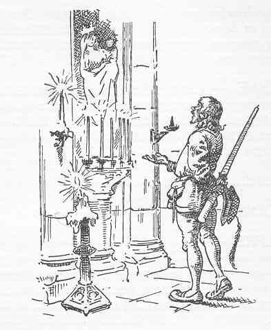 La promesa del náufrago. Ilustracion de Albert Puyplat. Colloques d'Érasme. L'enseigne du pot cassé.1934
