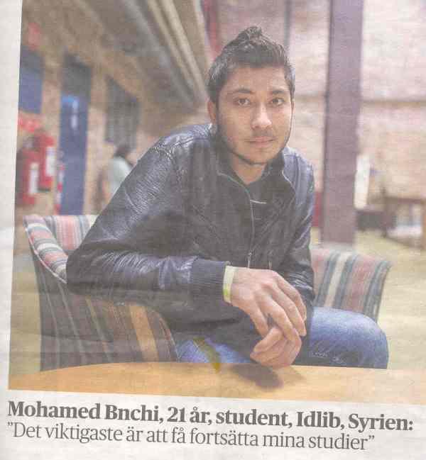 Mohamed Bnchi. Foto Elizabeth Ubbe. Dagens Nyheter 30 de diciembre 2015