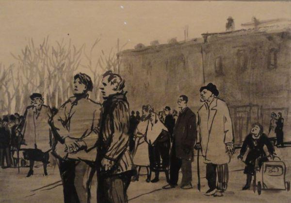 Wróblewski. Noticias luctuosas. 1953. Foto R.Puig.