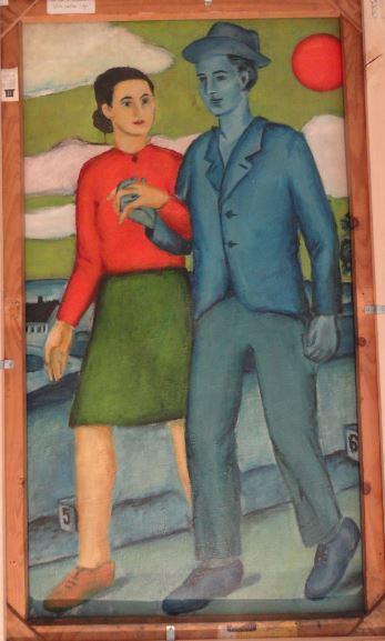 Wróblewski. Paseo de los amantes al sol. 1949. Foto R.Puig.