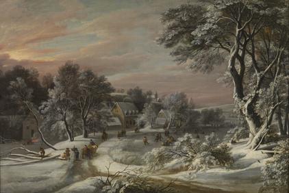 Jacques d'Arthois. Paisaje de invierno. Museo de Bellas Artes de Bruselas
