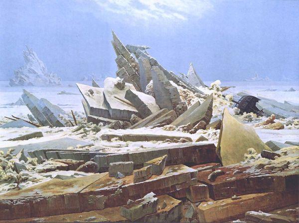 Caspar David Friedrich. El mar de hielo 1823-24. Kunsthalle. Hamburgo