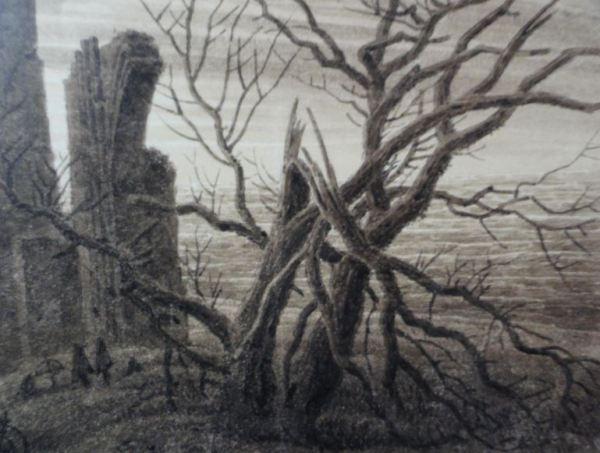 El Invierno. Caspar David Friedrich.1803. Detalle