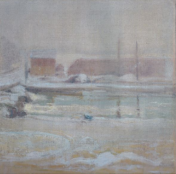 Invierno desde Holley House. John Twachtman. 1901