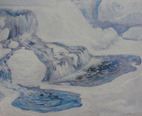 John Twatchman. Cascada en enero. Museo de Arte de Wichita