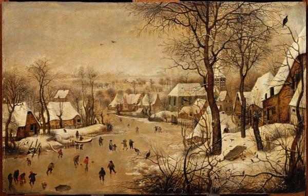 Pieter Brueghel el joven. Los placeres del invierno. Museo Magnin.Dijon