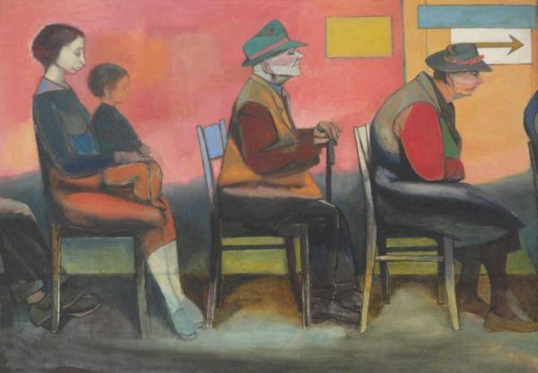 Wróblewski. Sala de espera I. Cola continua. 1956. Foto R.Puig