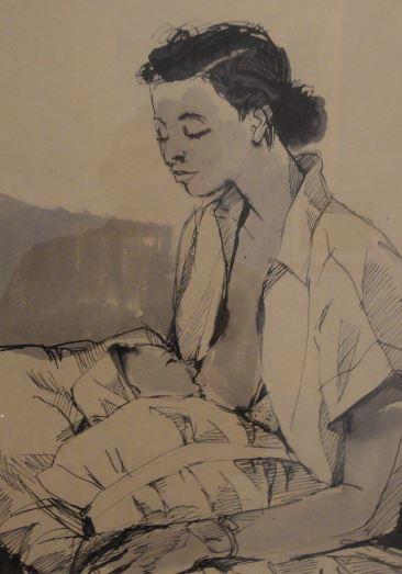 Wróblewski. Teresa y Kitek. 1954. Foto R.Puig.