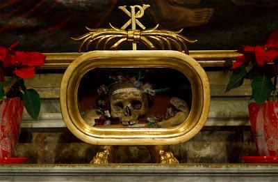Calavera de San Valentin. Santa Maria in Cosmedin. Roma