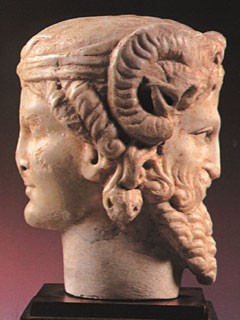 Herma bifronte. Museo Arqueológico de Córdoba