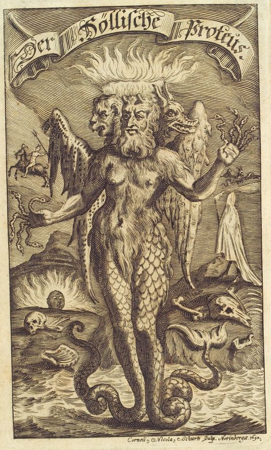 Proteo. Grabado de Cornelius Nicolas Schurtz de 1692