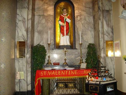 San Valentin. White Friar Church Dublin. Irish Central