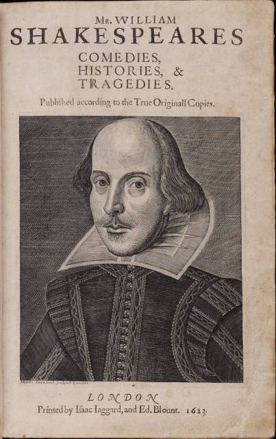 Shakespeare grabado de Martin Droeshout.1623