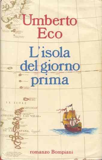 Umberto Eco. Portada de L'isola del giorno prima, 1994